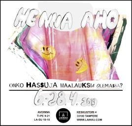 Onko hassuja maalauksia olemassa? Kulttuuritalo Laikun studio, Tampere, 2019
